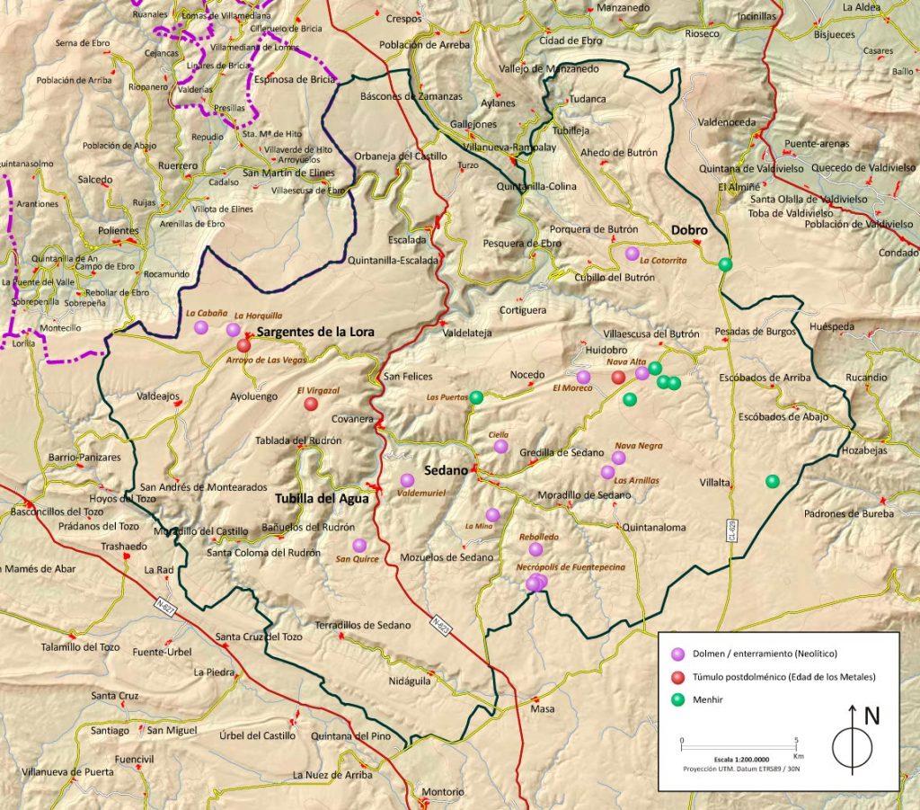 Rutas por el territorio megalítico. Fuente: www.territoriomegalitico.com
